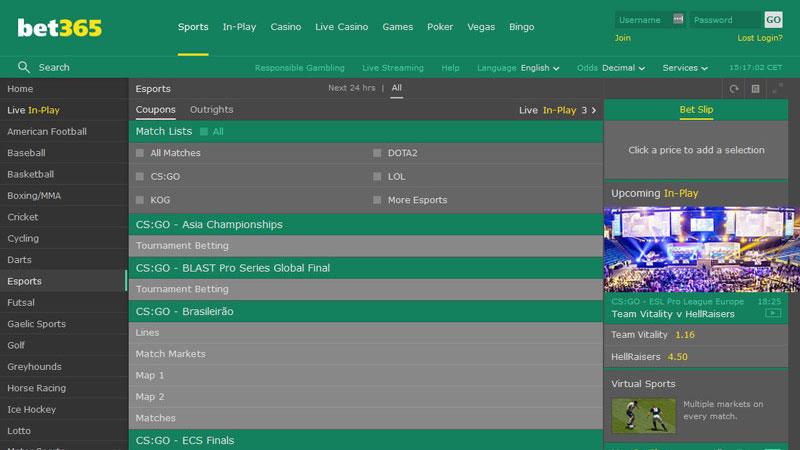 Bet365 Betting site